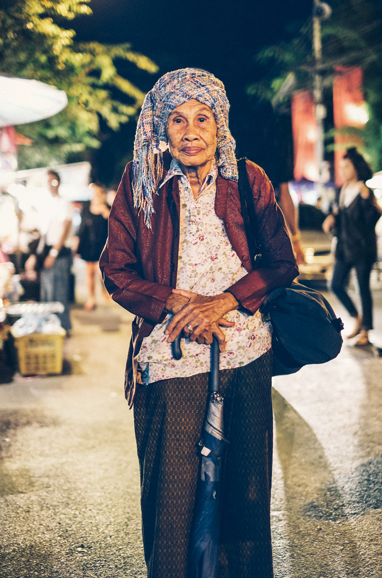 Chiang Mai, Thailand Portrait of Old Woman